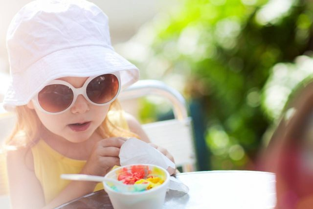 optometrsit, liitle baby with sunglasses in Belmont North Carolina