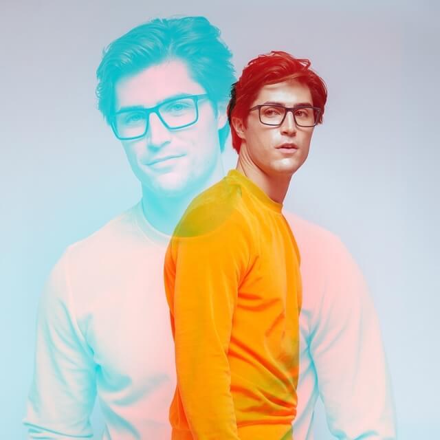 man wearing scott harris eyeglasses
