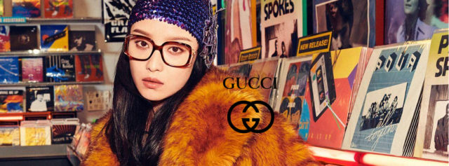 Girl wearing Gucci Eyeglass