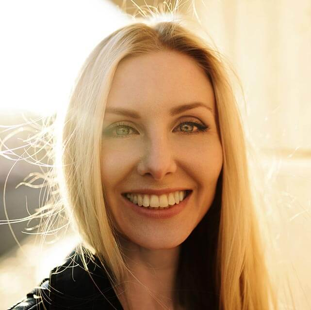 Woman smiling, beautiful eyes