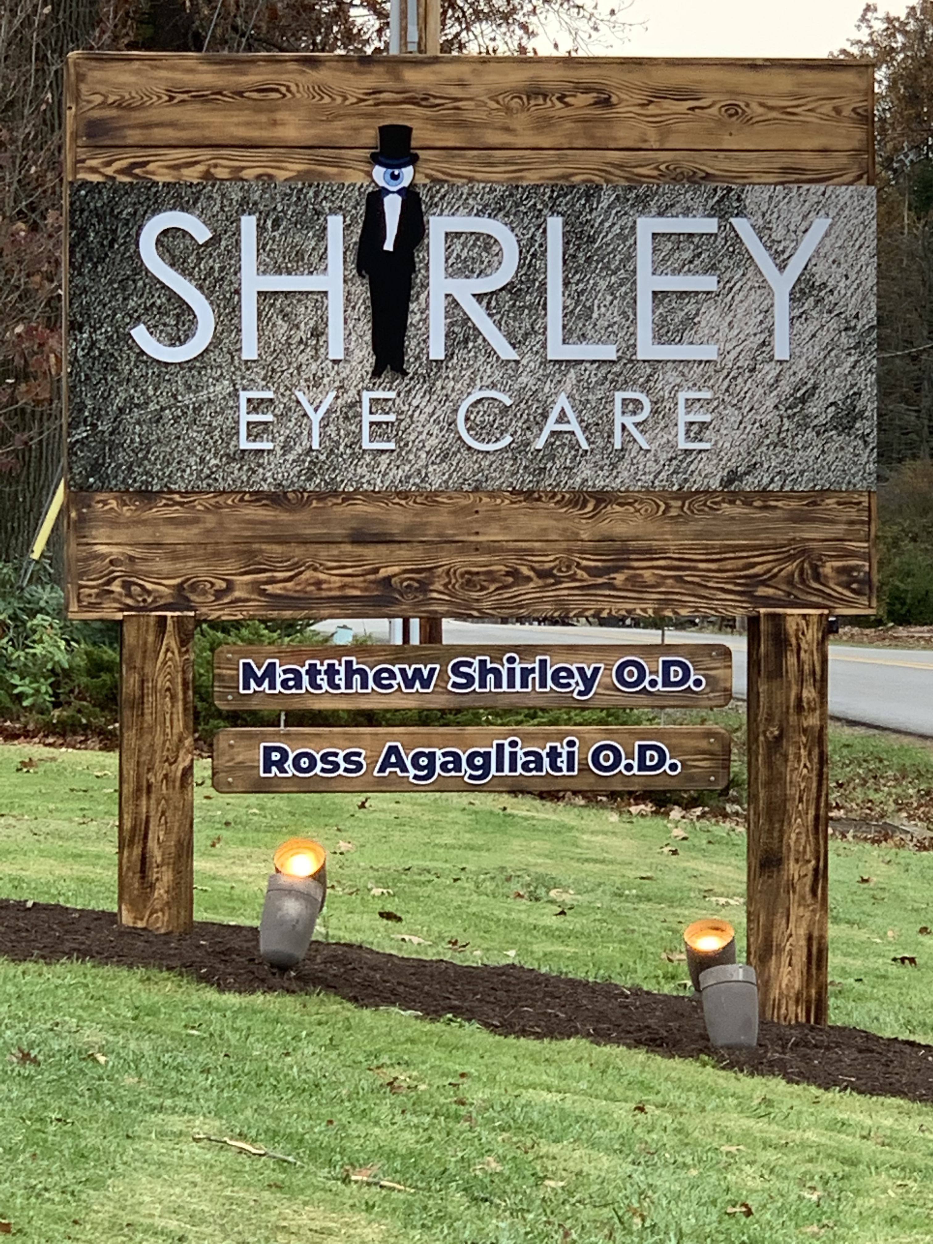 Outdoor sign for Shirley Eye Care