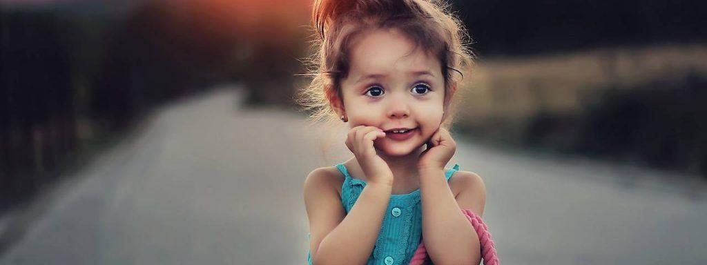 Cute child with a handbag