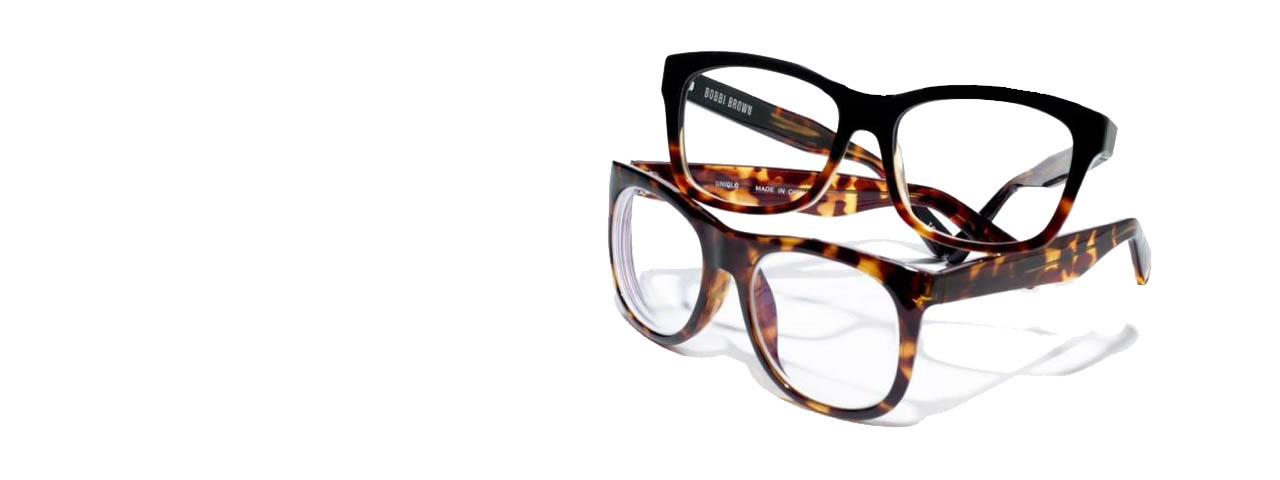 glasses tortishell slide