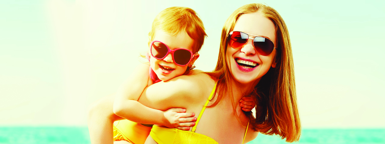 Mother and daughter on a beach, Eye Care in Fort Worth, TX,