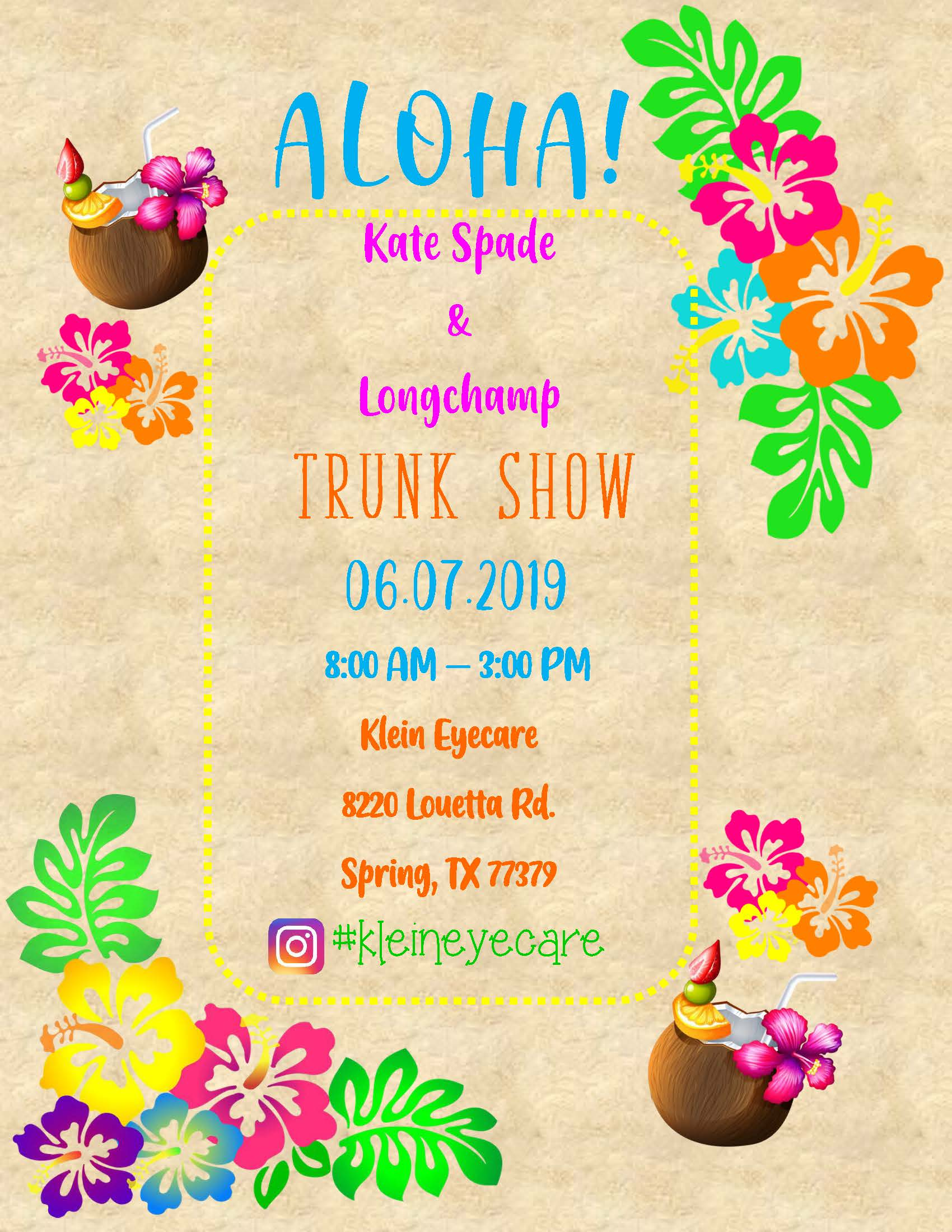 Aloha Trunk Show Flyer 2019