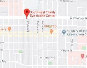 SOUTHWEST FAMILY EYE HEALTH CENTER MAP