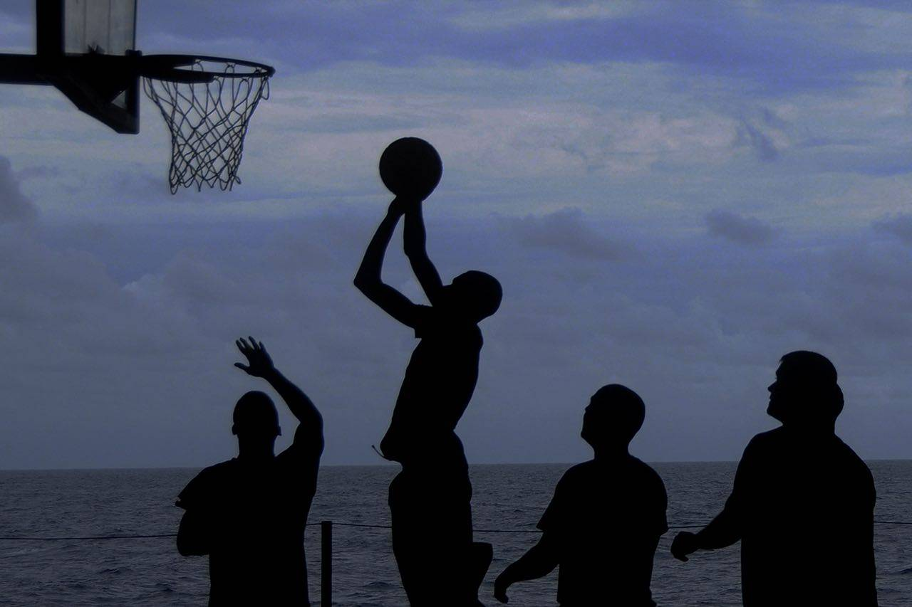 background basketball silhouette 1280×853