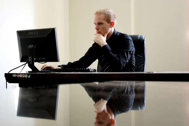 Business Man Desk Computer