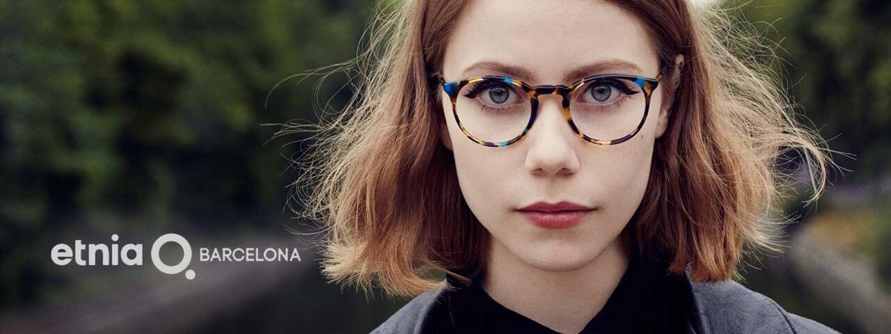 woman wearing Etmia Barcelona frame