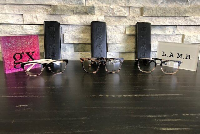 3 Examples of the Designer Frames we carry in our Roanoke and Rocky Mount eye care clinics