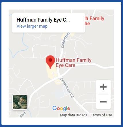 Huffman Family Eye Care Map