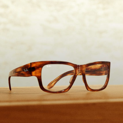 ray ban gold chrome eyeglasses