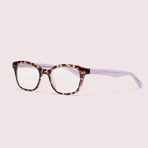 multi colored rimmed kate spade eyeglasses