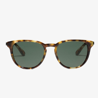 pair of green tinted michael kors sunglasses