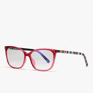 pink rimmed kate spade eyeglasses