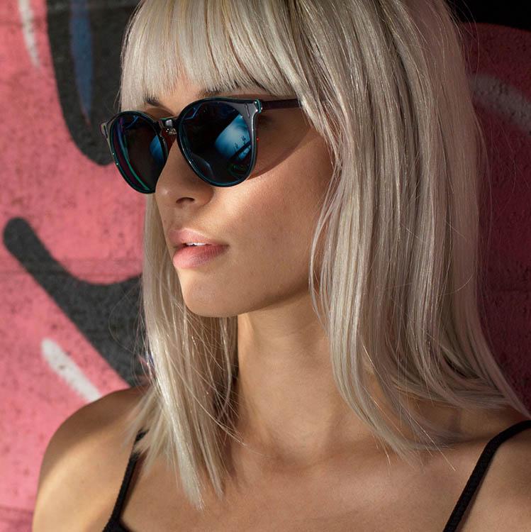 woman wearing designer sunglasses in Zanesville, Ohio