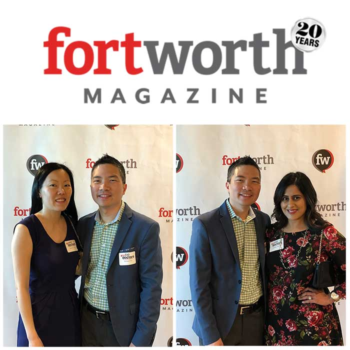 Dr. Richard Chu for being named to Fort Worth Magazine's top doctor for 2019!
