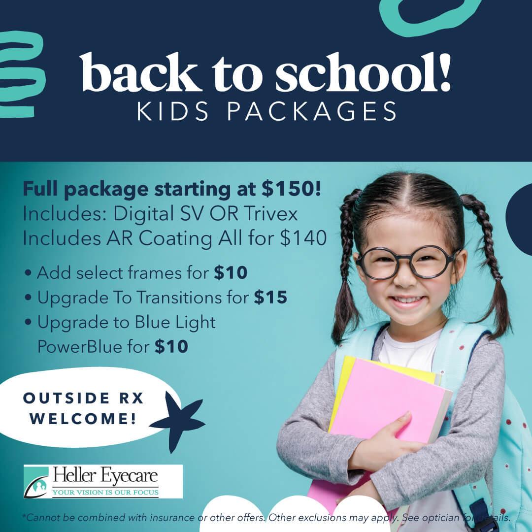Heller Eye Care Digital Back To School Kids Package