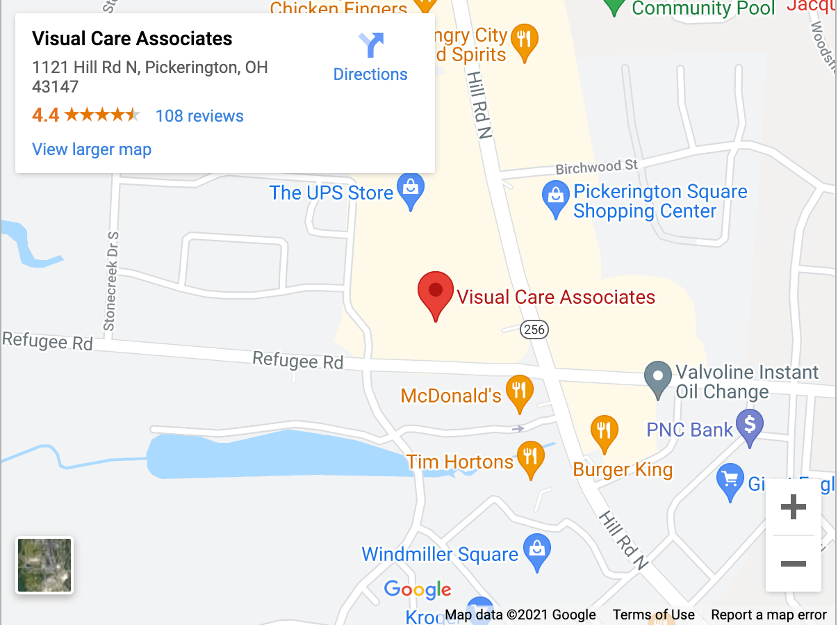 visual care associates map
