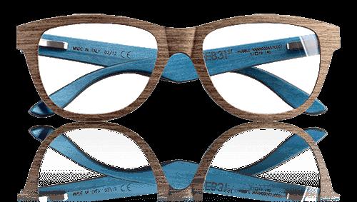 feb31st eyeglasses blue brown
