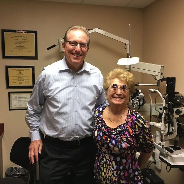 dr schoenbart with happy patient