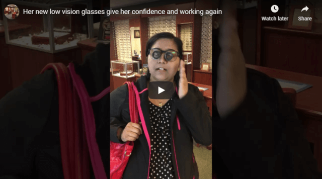 Her new low vision glasses give her confidence and working again YouTube