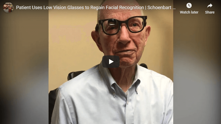 Patient Uses Low Vision Glasses to Regain Facial Recognition Schoenbart Vision Care YouTube