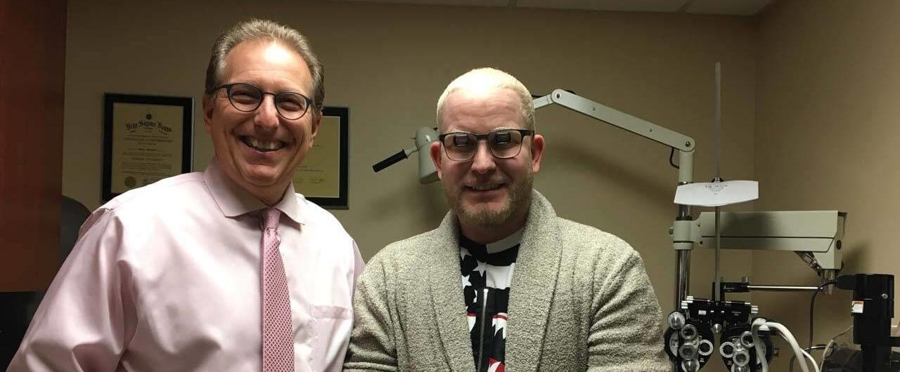 dr schoenbart with albinism patient