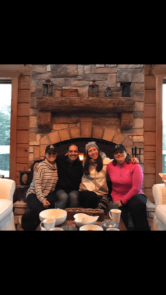 Our Eye Care Staff relaxing in the ski lodge