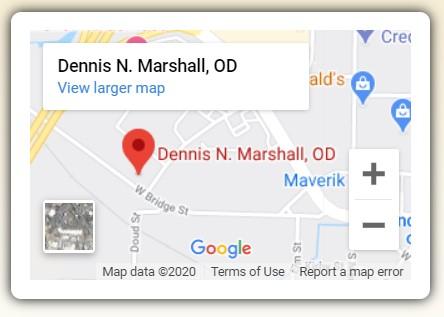 Dennis N. Marshall, OD Map