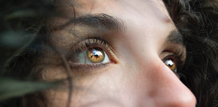 Close up of woman's eyes in Johnstown