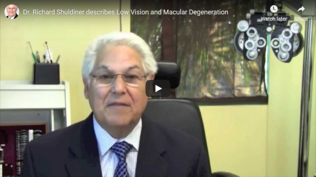 Screenshot 2019 04 12 Dr Richard Shuldiner describes Low Vision and Macular Degeneration YouTube