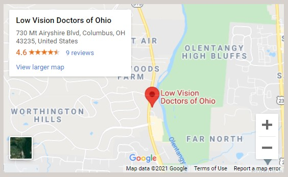 Low Vision Doctors of Ohio Map