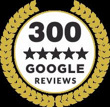 300 Reviews Badge