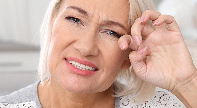 Dry Eye Senior Woman 640x350