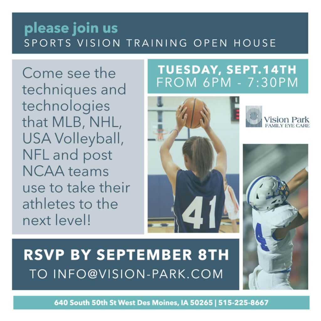 Vision Park Sports Vision Open House Email