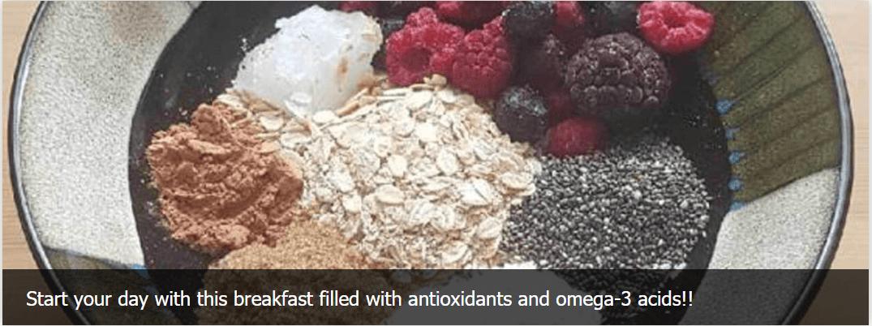 Antioxidants and omega-3 acids