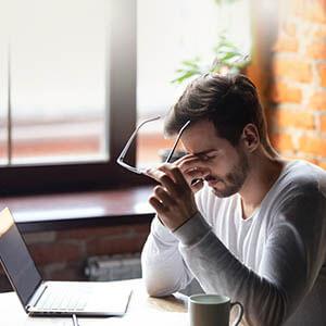 5. Adult male computer head ache Square 300px