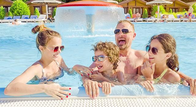 Family Sunglasses Pool