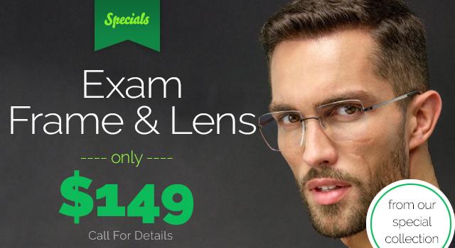 Exam Frame and Lens