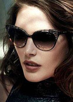Model wearing Jimmy Choo sunglasses