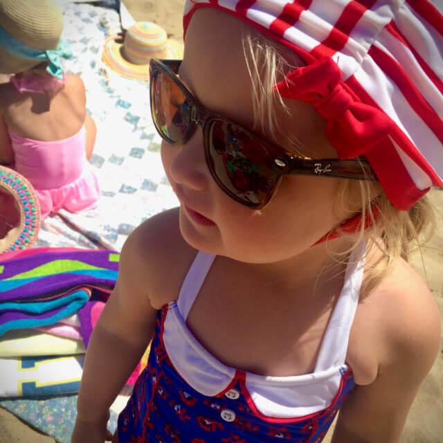 eye exam, young girl wearing sunglasses in New Holland, Pennsylvania