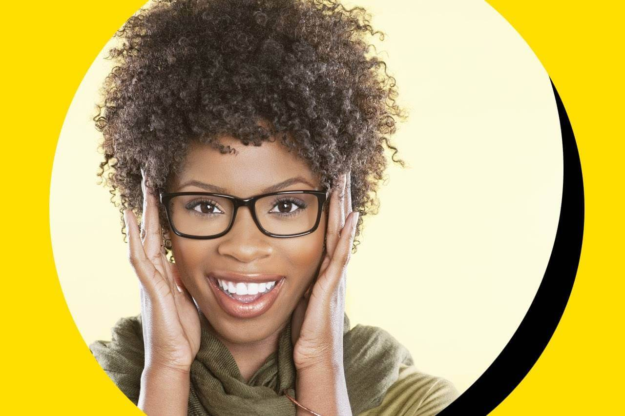 glasses african american woman smiling