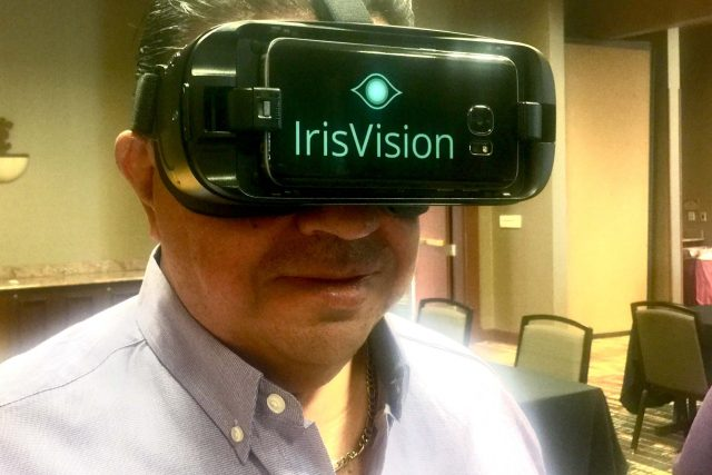 Young Woman Experiencing IrisVision