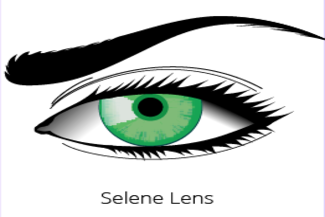 green contact lens small