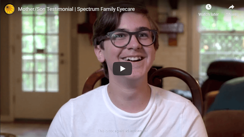 Mother Son Testimonial Spectrum Family Eyecare YouTube