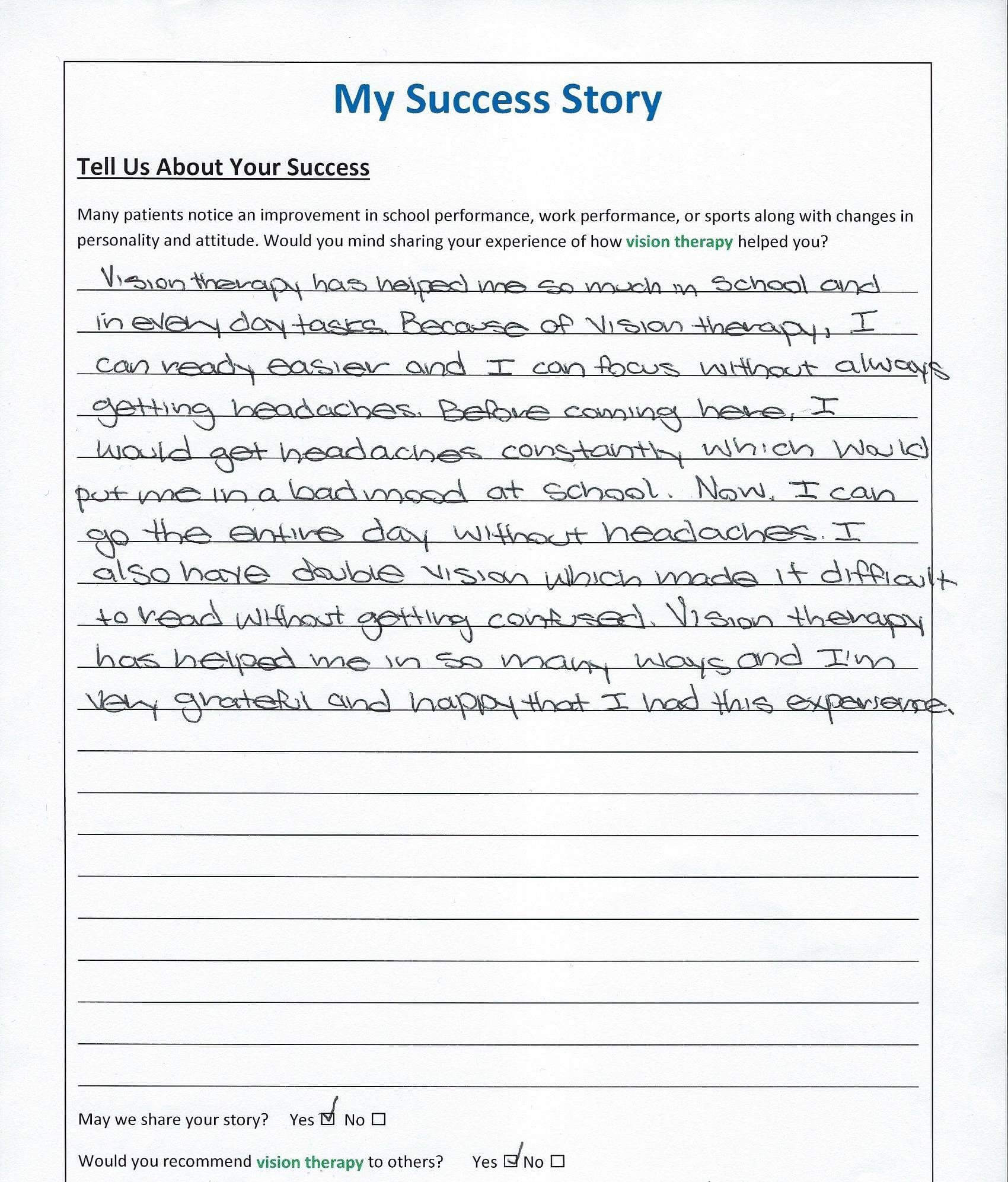 My Success Story Vision Therapy 05.06.19 edit
