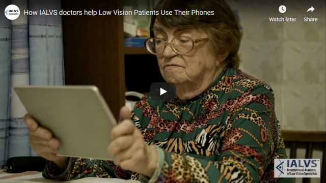 Screenshot 2019 11 06 How IALVS doctors help Low Vision Patients Use Their Phones   YouTube