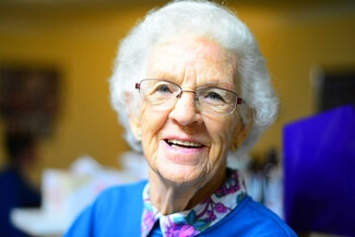senior woman smiling 325