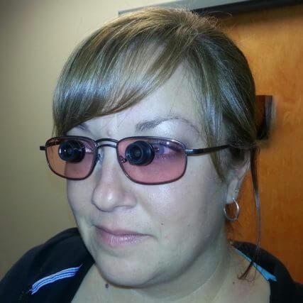woman wearing reverse bioptics 640